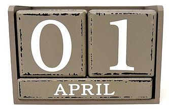 Calendar, April 1, April fools day