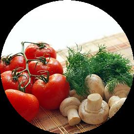 food, tomatoes, mushrooms, dill